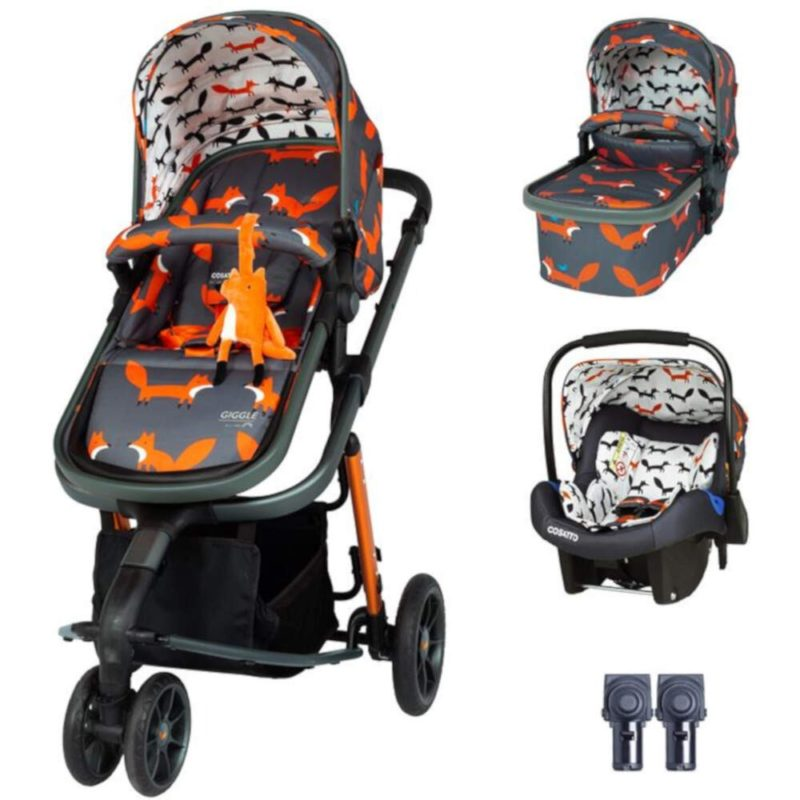 Cosatto Giggle 3 Travel System Bundle - Charcoal Mister Fox