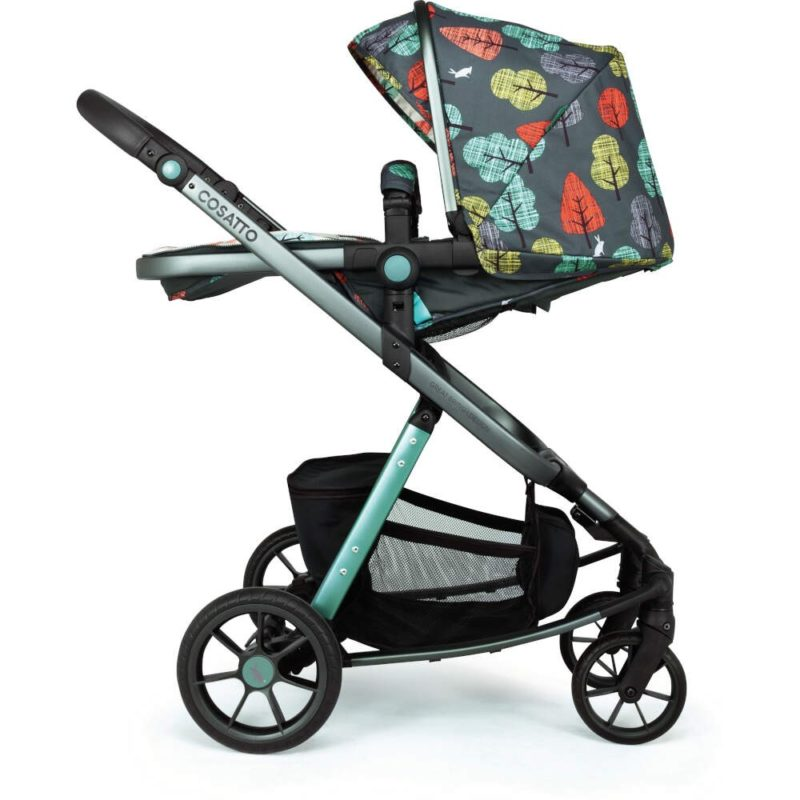 Cosatto Giggle Quad Pram and Pushchair Charcoal - Hare Wood