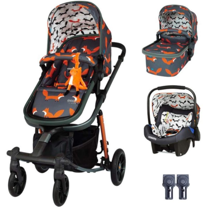 Cosatto Giggle Quad Travel System Bundle - Charcoal Mister Fox