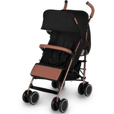 Ickle Bubba Discovery Prime Stroller - Black on Rose Gold 2