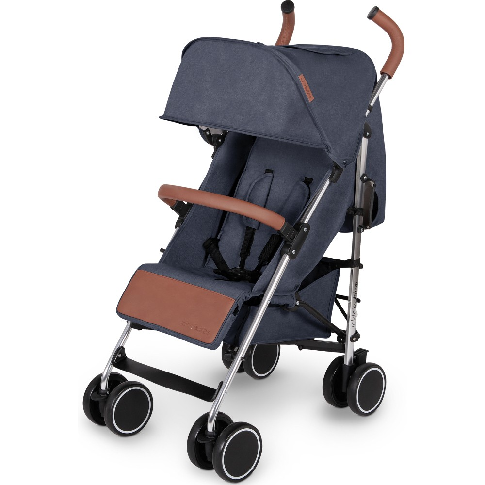 Ickle Bubba Discovery Prime Stroller in Denim Blue on Silver Pram Buggy