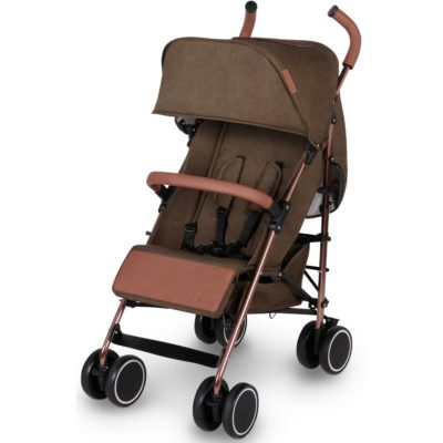Ickle Bubba Discovery Prime Stroller - Khaki on Rose Gold 2