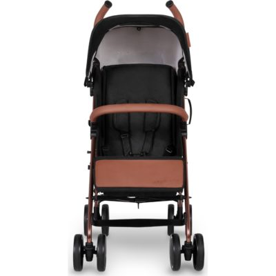 Ickle Bubba Discovery Stroller - Black on Rose Gold Frame 2