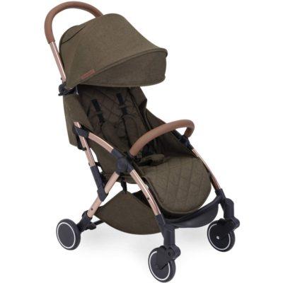 Ickle Bubba Globe Prime Stroller - Khaki on Rose Gold Frame 2