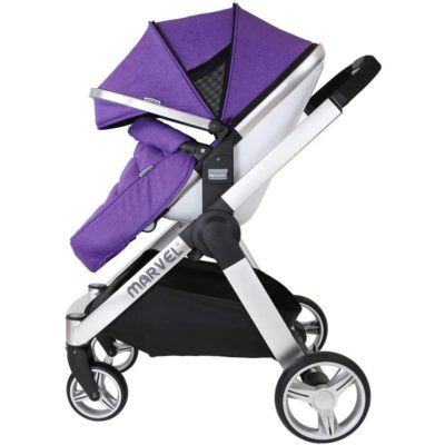 Marvel Travel System - Monaco Maroon With Car Seat