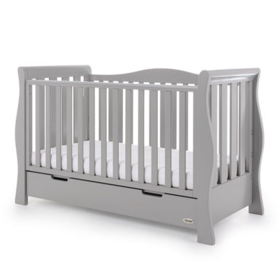 Obaby Stamford Luxe 5 Piece Room Set - Warm Grey 2