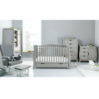 Obaby Stamford Luxe 5 Piece Room Set - Warm Grey
