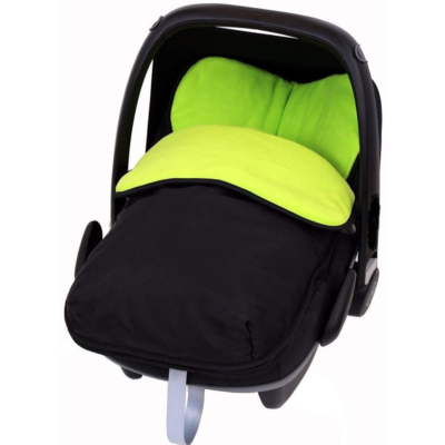 Travel BuddyJet Car Seat Footmuff BLACK LIME