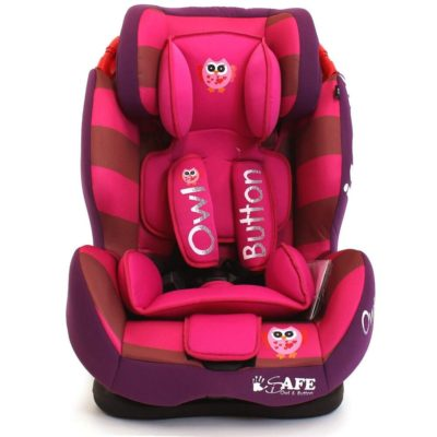 iSafe Car Seat Group 1-2-3 Owl & Button