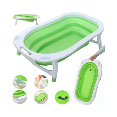 iSafe Flat Foldable Baby Bath - Lime