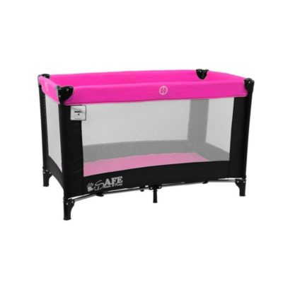iSafe Rest & Play Travel Cot - PinkBlack