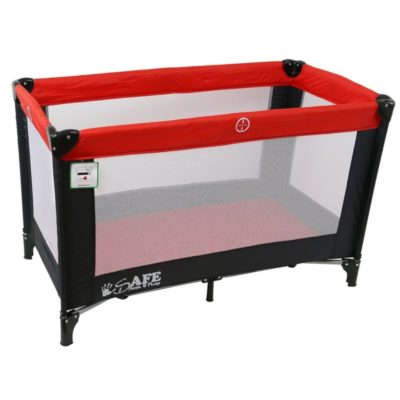 iSafe Rest & Play Travel Cot - RedBlack