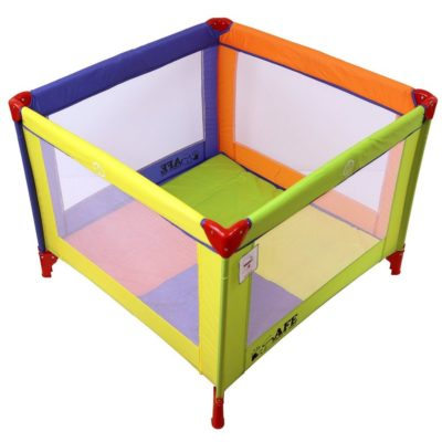 iSafe Zapp And Nap Luxury Square Travel Cot Playpen - Multicolored