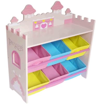 kiddi style Princess Castle Themed Storage Unit + 6 Bins