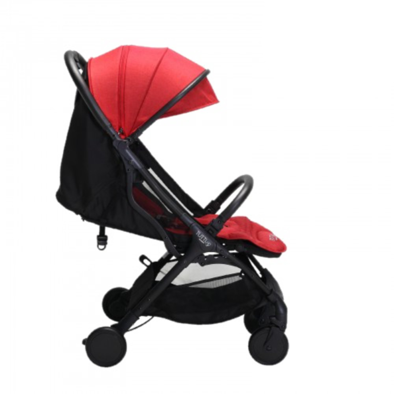 Tutti Bambini Momi Stroller - Black/Poppy