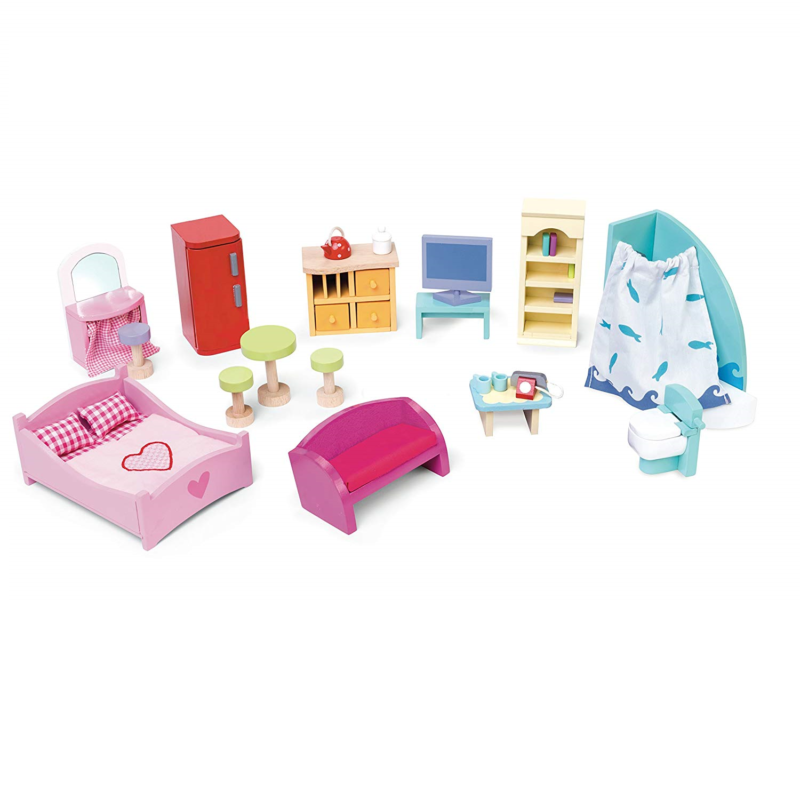 Le Toy Van Deluxe Dolls House Furniture Set