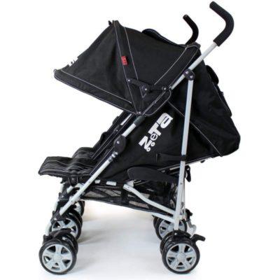 ZeTa Vooom Twin Stroller -Black