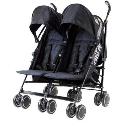 Zeta CiTi Twin Stroller -Black