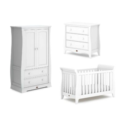 Boori Sleigh Expandable 3 Piece Room Set - Barley White