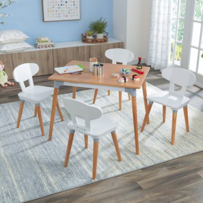 Kidkraft Mid Century Kid Table and 4 Chair Set