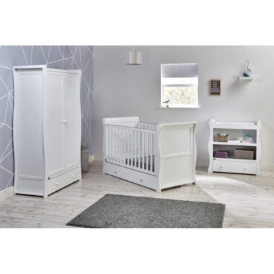 east cost nebraska 3 piece nursery room set in white