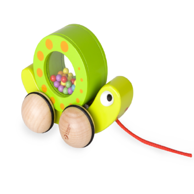 Classic World Pull Snail and Rattle
