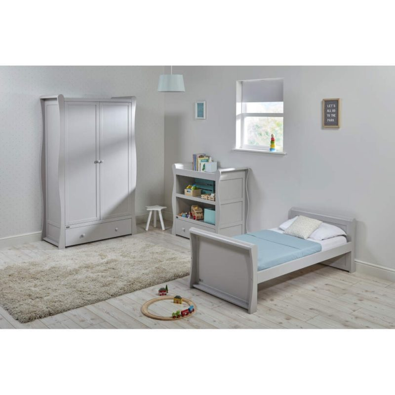 East Coast Nebraska Toddler Bed Dresser Wardrobe Grey