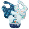 Hippychick Bumkins Super Bib Packs - HangryDinosaursBlue Tropic