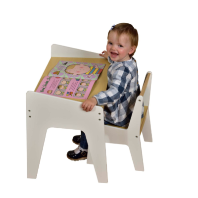 KIDS PLAY TABLE – White and Pine liberty house toys1