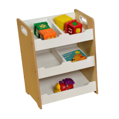 KIDS SLOPING STORAGE WHITE & PINE