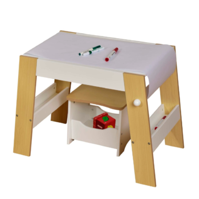 Kids Play Table and stool – White and Pine LIBERTY HOUSE TOYS