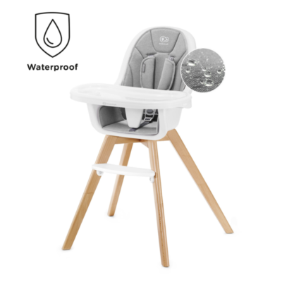 Kinderkraft Tixi 2 in 1 Highchair - Grey