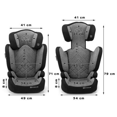 Kinderkraft Xpand Isofix Group 2,3 Car Seat - Grey 6
