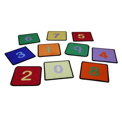 Liberty House Toys Number Squaresearning Rugs set of 10