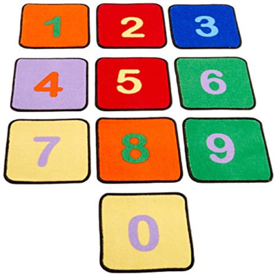 Number Squares Learning Rugs set of 10