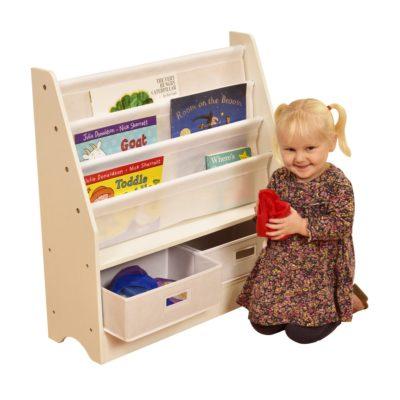 TIKKTOKK Toy Storage Unit with Two Bins White