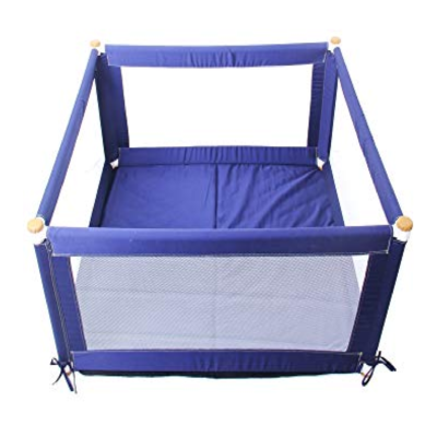 Tikk Tokk POKANO Fabric Playpen – Square – BLUE
