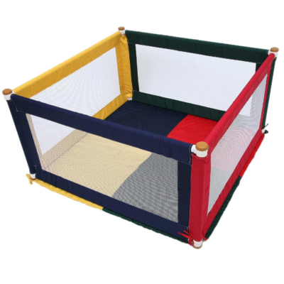 Tikk Tokk POKANO Fabric Playpen – Square – COLOURFUL