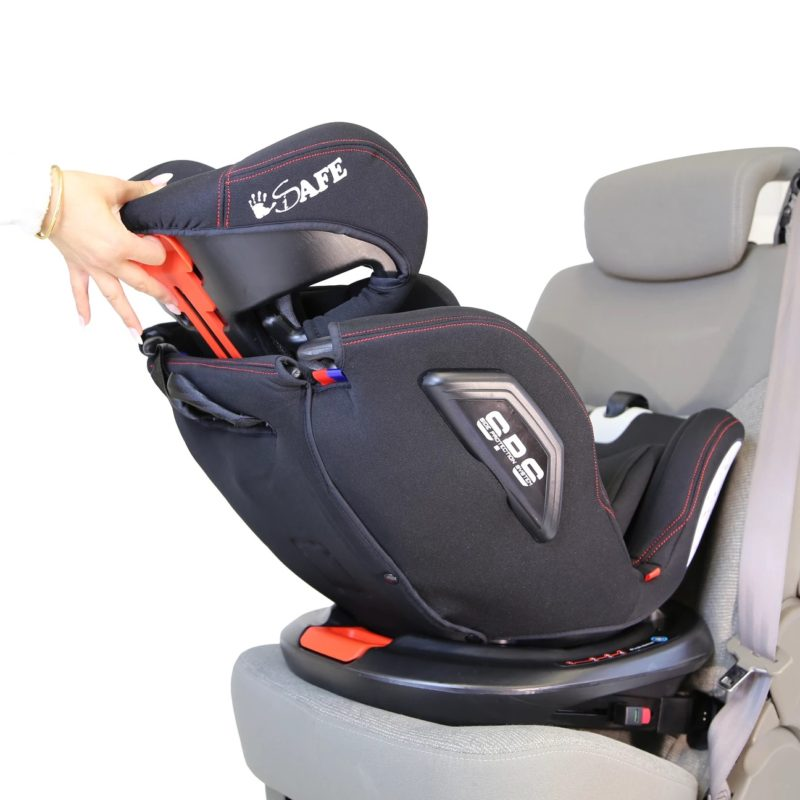 iSafe All Stages 360° Rotating Baby Car Seat Carseat Group 0+123 - Black