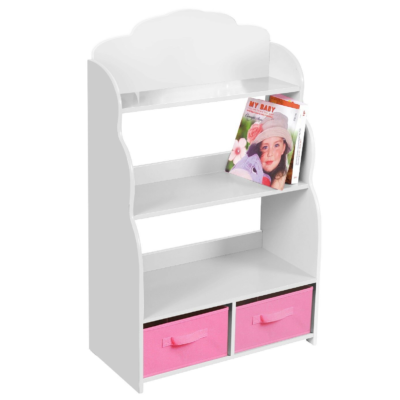 Liberty House Toys White Bookshelf with Bins