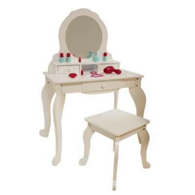 liberty house toys white dressing up table and stool