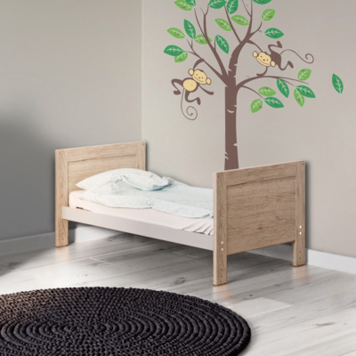 Baby Hoot Grantham Mini Cot Bed Grey Oak
