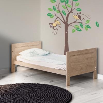 Babyhoot Grantham Cot Bed Grey Oak
