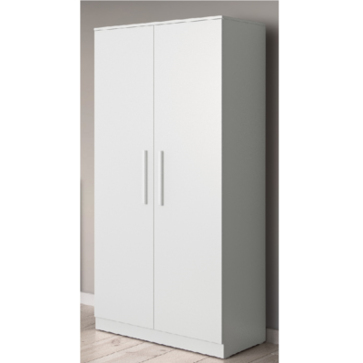 Babyhoot Grantham Double Wardrobe brushed white