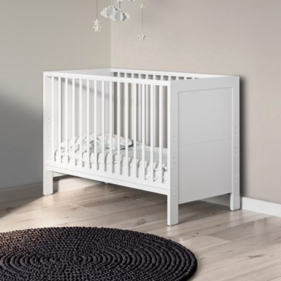 Babyhoot Grantham Mini Cot Bed Brushed White