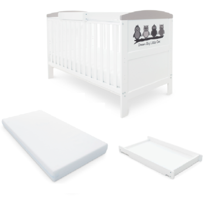 Babyhoot Style Cot Bed Mattress Cot Top Changer - Owl