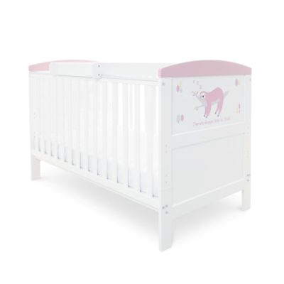 Babyhoot Style Cot Bed Mattress Cot Top Changer - Sloth Pink