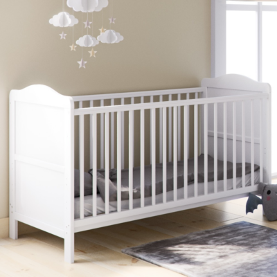 Babyhoot Upton Cot Bed White