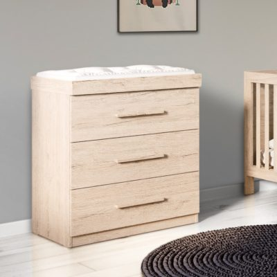 Grantham Chest of Drawers Changer Grey Oak