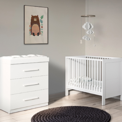 Grantham Mini 2 Piece Furniture Set Brushed White